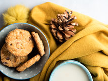 Winter cozy home relax with cookies Stock Photography