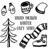 Winter cozy set Royalty Free Stock Photography