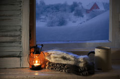 Winter cozy still life Stock Images
