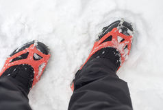 Winter Crampons Royalty Free Stock Photography
