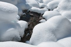 Winter creek Stock Image