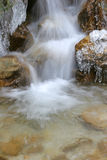 Winter creek. Mountain creek in the winter Stock Photo