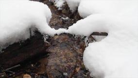 Winter creek, slider stock video footage