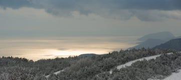 Winter in Crimea Stock Photo