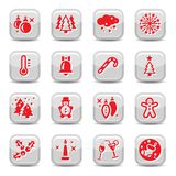 Winter and cristmas icon set Royalty Free Stock Image