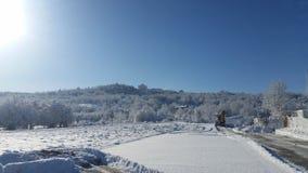 Winter croatia-place udbina Stock Image