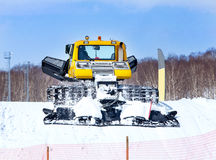 The winter cross-country vehicle for laying of a ski line Royalty Free Stock Photo