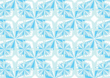 Winter crystals and stars pattern Stock Images