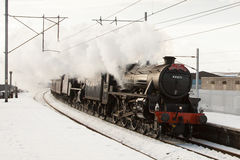 The Winter Cumbrian Mountain Express Royalty Free Stock Photo