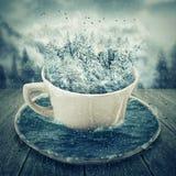 Winter cup vector illustration
