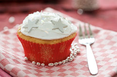 Winter cupcake Stock Images