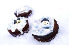 Winter cupcakes Stock Photography