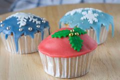 Winter cupcakes Stock Image
