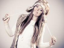 Winter cute girl fashion. Royalty Free Stock Images