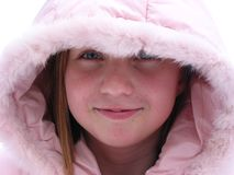 Winter Cutie - Portrait Of A Young Girl Stock Images
