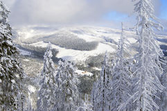 Winter in Czech. View on mounains Royalty Free Stock Images