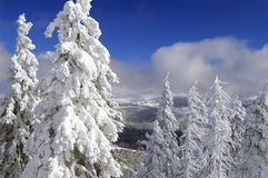 Winter in Czech. Beautiful mountains Royalty Free Stock Photo