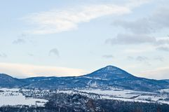 Winter Czech landscape. Late afternoon Stock Images