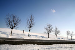 Winter in Dänemark Stockfotografie
