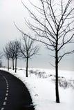 Winter in Dänemark Lizenzfreies Stockfoto