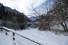 The winter dam Royalty Free Stock Images