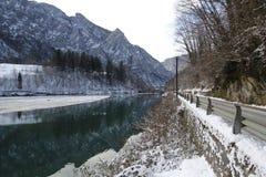 The winter dam Stock Photo