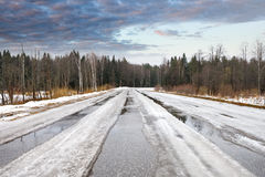 Winter dangerous road Stock Photos