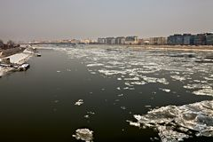 Winter Danube Stock Photography