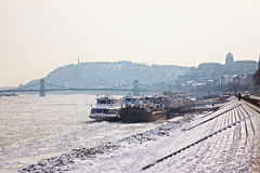 Winter Danube Royalty Free Stock Images