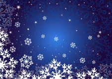 Winter dark blue background Stock Photos