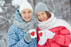 Winter dates Royalty Free Stock Photo