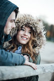 Winter dating royalty free stock images