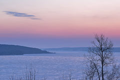 Winter Dawn Lake Superior Stock Image