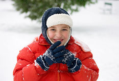 Winter day (1). Portrait of a boy outside  in a winter day Royalty Free Stock Image