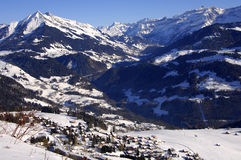 Winter day. Winter landscape, Swiss Alps, Switzerland Royalty Free Stock Photography