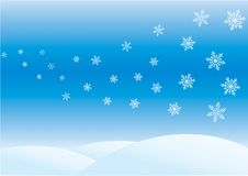 Winter day. Xmas/New Year background with snowflakes vector illustration