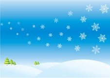 Winter day. Xmas/New Year background with snowflakes royalty free illustration