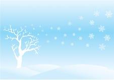 Winter day. Scene royalty free illustration