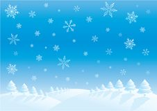 Winter day. Winter illustration Stock Images