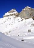 Winter day in the  Alps. Winter in der Swiss Alps, leysin, Switzerland Stock Photography