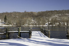 Winter day on the Connecticut River Royalty Free Stock Photos