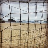 A winter day in Copacaba Beach. A winter day in Copacabana Beach royalty free stock photography