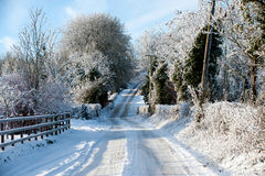Winter day in the country Royalty Free Stock Image
