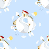 Winter Day on Earth Seamless Pattern Royalty Free Stock Images