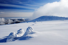 Winter day in Giant Mountains. Close to Vrbatova chalet Stock Images