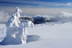 Winter day in Giant Mountains. Close to Vrbatova chalet Royalty Free Stock Photo