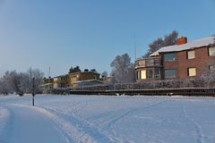 Winter day in Luleå Royalty Free Stock Photos