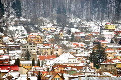 Winter day in old town Stock Photography