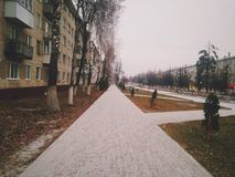 Winter day. In Russia Royalty Free Stock Image
