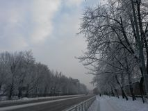 Winter day in the of St. Petersburg. Stock Photo